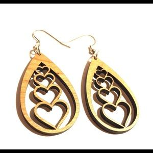 CHERRYWOOD CASCADING HEARTS EARRINGS